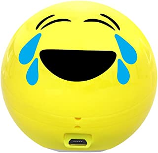 Promate Wireless Bluetooth Speaker, Cute Emoji Portable Bluetooth Speaker with HD Sound, Built-in Mic, and Micro SD Card Slot and 3.5mm Aux for Smartphones and Tablets, Joyful Jazz