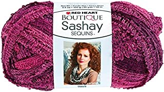 RED HEART Boutique Sashay Sequins Yarn, Phlox