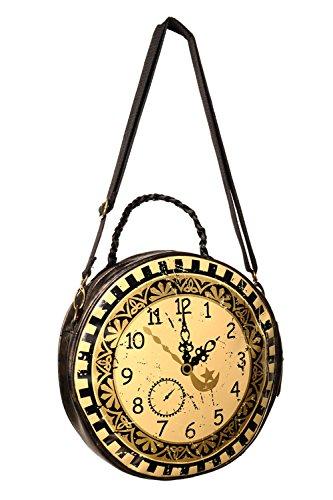 Reloj redondo prohibido circular bolsa