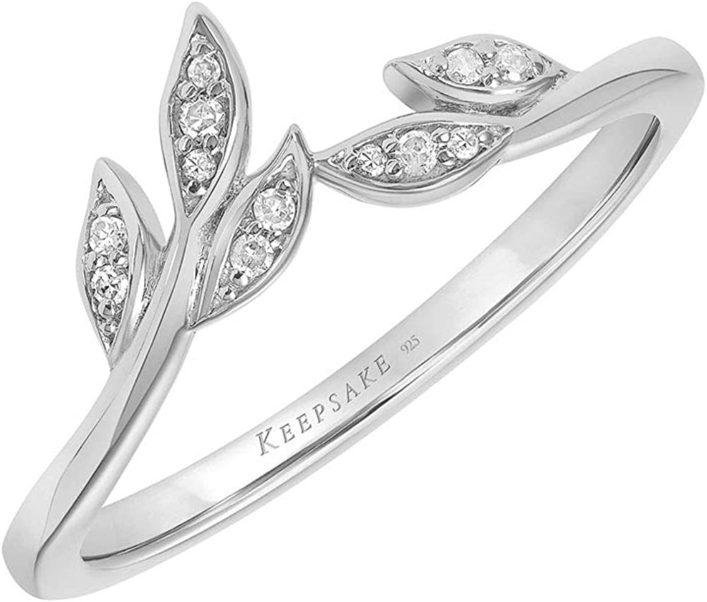 Diamond Leaf Ring for Women Elegant Wedding Oakland Mall Band White Gold Yel 10K