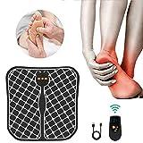 WARDBES Masajeador de pies electrico,vibrolegs, EMS Masajeador de Pie Plegable,2020 Nuevo Control Remoto inalámbrico Carga USB cojín de Masaje de pie Plegable masajeador de...