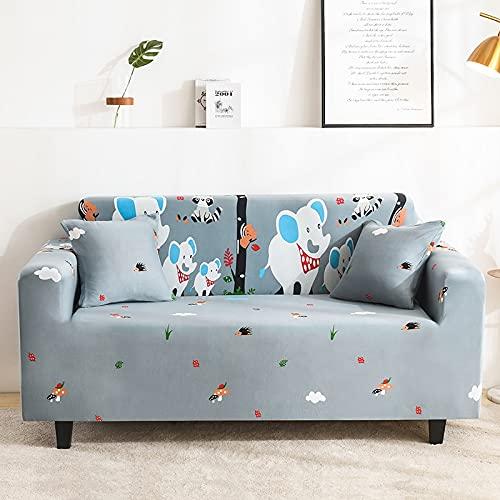 Funda de sofá elástica elástica Ajustada Ultra Spandex Funda de sofá para Sala de Estar Funda de poliéster Funda de sofá Profunda A21 3 plazas
