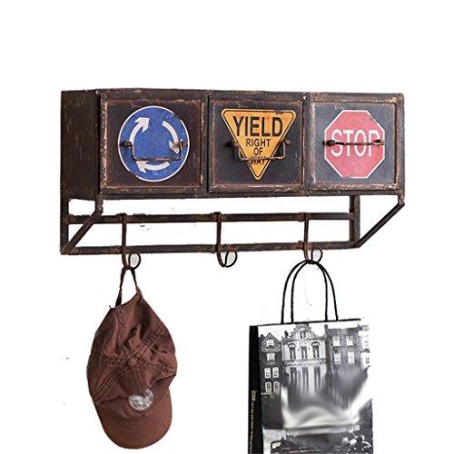 LH-Étagère à cadre Étagère murale en fer avec des tiroirs et des crochets pour la cuisine Bar Restaurant/LOFT Étagère murale en forme de cube pour la chambre comme étagère de stockage Rack/Floatin
