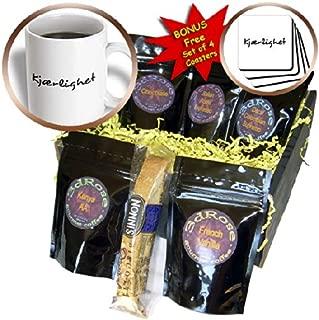InspirationzStore Love Series - Kjaerlighet, word for Love in Norwegian romantic language black text - Coffee Gift Baskets - Coffee Gift Basket (cgb_185037_1)