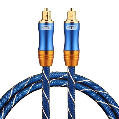 Sevenplusone Licht en mooi, gemakkelijk te dragen. LSYJ-A010 1m OD6.0mm vergulde metalen kop Toslink mannelijke naar mannelijke digitale optische audiokabel, klein formaat, licht gewicht en gemakkelijk te dragen