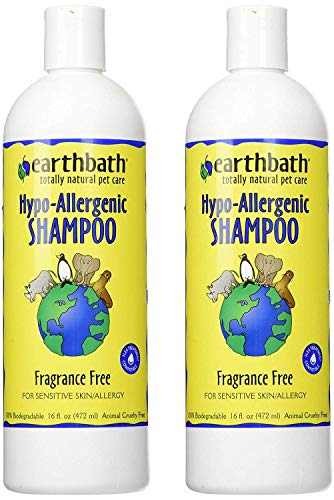 earthbath Hypoallergenic Dog Shampoo, Fragrance Free, 16 oz – Pet Shampoo for Sensitive Skin & Allergies – Made in USA (Pack of 2)