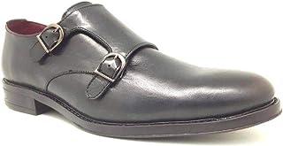 Zapato Hombre Monk Doble Hebilla Piel Negro