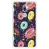 Hapdey Funda Transparente para [ Xiaomi Mi5s Plus - Mi 5s Plus ] diseño [ Donuts con Chocolate y chispitas de Colores 2 ] Carcasa Silicona Flexible TPU