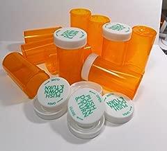 Plastic Prescription Vials/Bottles 50 Pack w/Caps Large 20 Dram Size-NEW