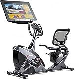 Hop-Sport Liegeheimtrainer HS-070L inkl. Unterlegmatte Sitzheimtrainer Bluetooth 4.0 Smartphone...