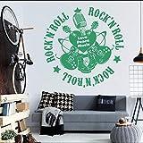 xinyouzhihi Musik Gitarre Rock Art wandbilder Wohnzimmer wandaufkleber Vinyl wandtattoos dekorative...