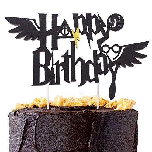 JeVenis Decoración para tartas con temática de la escuela de mago de mago, decoraciones de cumpleaños, suministros para fiestas