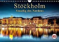 """Stockholm - Venedig des Nordens (Wandkalender 2022 DIN A4 quer): Seinem durch Bruecken und Wasserwege gekennzeichneten Stadtbild verdankt Stockholm die Bezeichnung """"Venedig des Nordens."""" (Monatskalender, 14 Seiten )"""