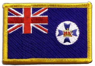 Flaggen Aufnäher Australien Queensland Fahne Patch + gratis Aufkleber, Flaggenfritze®