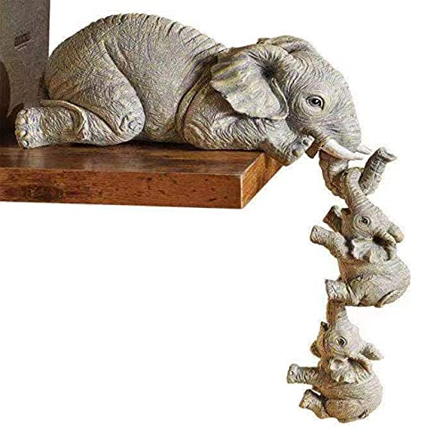 Yeahb Elefante in Resina Decorazione Dolce Casa Figurina Animale Giardino All'aperto Statua...