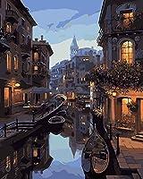 大人のための1000ピースのジグソーパズル家族のためのパズルセット-夜のヴェネツィア木製パズル教育ゲーム子供のためのチャレンジパズル子供-50x75cm