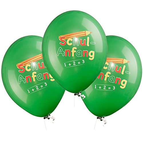 feiermeier 6 schöne Luftballons ø33cm zum Schulanfang, zur Einschulung, zum 1. Schultag