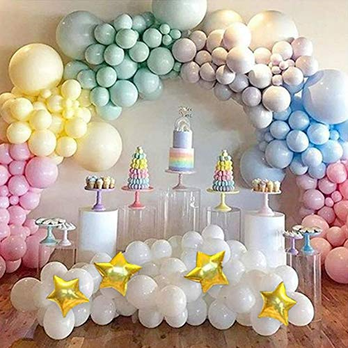 Magical Unicorn Rainbow Macaron Balloons Garland Arch Kit for Pastel Baby Shower Birthday Bridal Shower Ice Cream Party Children's Party Decorations