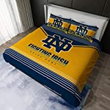 Notre Dame Fighting Irish 3pcs Queen Size Sheets Bedding Set,1 Duvet Quilt Cover and 2 Pillowcases