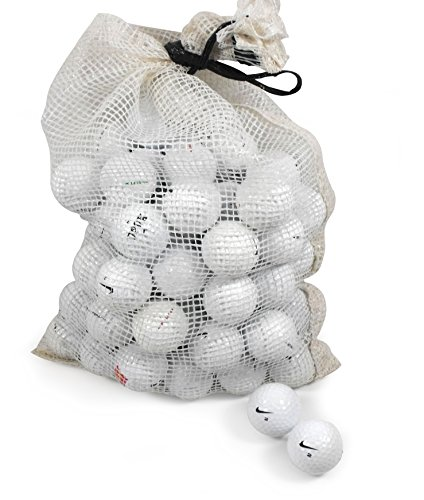 Nike Assorted Models Recycled B/C Grade Golf Balls in Onion Mesh Bag (72-Piece)