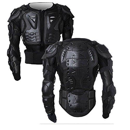Veste Armure Moto Blouson Motard Gilet Protection Équipement de Moto Cross Scooter VTT Enduro Homme ou Femme (Noir, L)