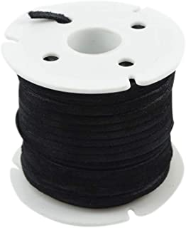 Treasure Gurus 3mm Real Black Leather Lace 25 Yd Spool Jewelry Making Thread Cord Suede