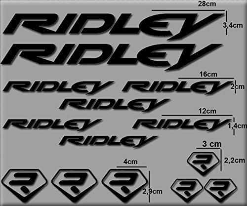 Ecoshirt HN-XYQA-0IDV Aufkleber Ridley R72 Vinyl Decal Sticker Decal Decal Decal Sticker MTB Bike schwarz