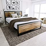 Amolife Queen Bed Frame with Headboard/Platform Metal Bed...