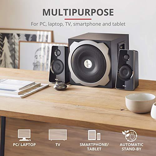 Trust Tytan 2.1 Speaker Set - PC luidspreker met subwoofer, 120 Watt, zwart