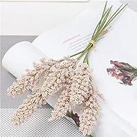 CH-CHH ドライフラワー プリザーブドフラワ 穀物は、草のシミュレーションの花のブーケ乾燥花自然牧歌的な結婚式のホームリビングルームの装飾の小さな新鮮なスパイク 手芸クラフト (Color : 07)