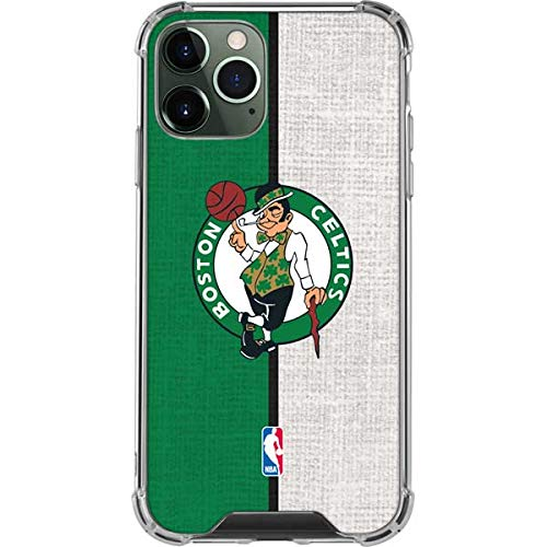 Skinit Clear Phone Case Compatible with iPhone 11 Pro Max - Officially Licensed NBA Boston Celtics Canvas Design