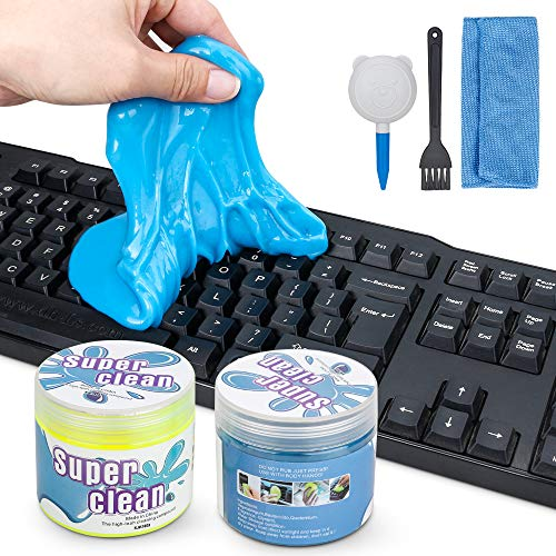 2Pcs Tastatur Reinigungsgel, Jooheli Super Clean Gel Tastatur Reinigung Universeller Staubreiniger für PC Tablet Laptop Tastaturen, Auto Entlüftungsöffnungen, Kameras, Drucker, Taschenrechner