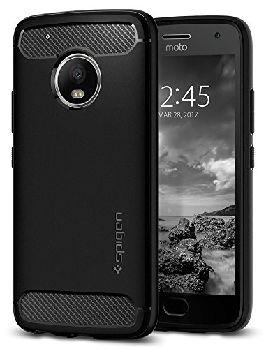 Spigen Moto G5 Plus Funda/Moto G5 Plus Estuche, Rugged Armor – Flexible de Fibra de Carbono para Motorola…