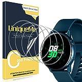 [5Pack] UniqueMe Protector de Pantalla para Samsung Galaxy Watch Active 40mm / Samsung Galaxy Watch Active 2 40mm, Película Transparente de Burbuja de TPU Huella Digital Disponible
