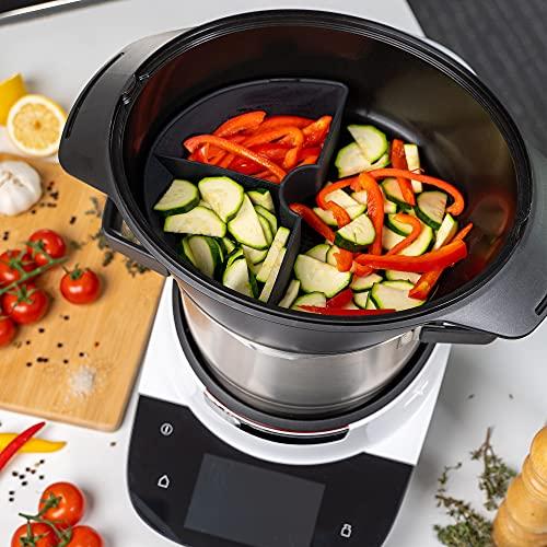 Mixcover Bosch Cookit - Separador de silicona para horno de vapor Bosch Cookit (dividir el espacio de cocción a media o cuartos, compatible con Bosch Cookit Quarter)