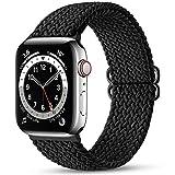 Maledan Compatibile per Apple Watch Cinturino 41mm 40mm 38mm,Cinturino di Ricambio Elastico Intrecciato Regolabile Compatibile con Apple Watch SE/iWatch Series 7/6/5/4/3/2/1-Nero