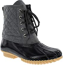 sporto Womens Duck Boots with Lace-Up Closure Delanie Waterproof Insulated Mid-Calf Winter Boots for Comfort, Durability - Keeps Feet Warm & Dry