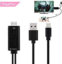 Compatible with iPad iPhone to TV HDMI Adapter,1080P High Resolution HDMI Adapter Cable,Support 1080P HDTV Compatible with iPhone Xs X 8 7 6 Plus, iPad, iPod to TV Projector Monitor