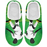 Linomo Zapatillas verdes para mujer de futbolista de fútbol para mujer, zapatillas de casa, zapatos de dormitorio, multicolor, 39/40 EU