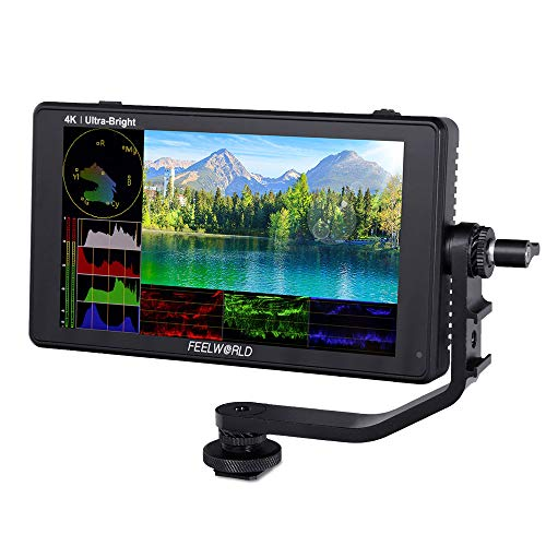 Feelworld LUT6S 6 Pollici 2600nits HDR / 3D LUT Touch Screen Fotocamera DSLR Monitor da Campo con Forma D'onda Istogramma VectorScope 3G-SDI 4K Uscita di Ingresso HDMI 1920X1080 Pannello IPS