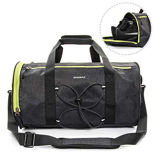 winmax Sporttasche mit Schuhfach 28L für Herren & Damen, Fitnesstasche - Reisetasche groß mit vielen Fächern, 45cm x 25cm x 25cm