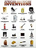 777 Tri-Seven Entertainment African American Inventions Poster Black History Famous People Inventors, 18' x 24', (White)