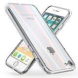 NALIA Olografico Custodia compatibile con iPhone SE 2020/8 / 7, Arcobaleno Cover Rigida in Vetro...