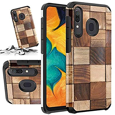 Red Floral Phone Case Compatible for [ Samsung Galaxy A50, Galaxy A30 & Galaxy A20 ] [ Storm Buy ] Shockproof 3D Textured Vibrant Rubber Cover for Galaxy A50