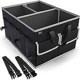MIU COLOR Car Trunk Organizer for SUV, Collapsible Cargo Trunk Storage Organizer, Non Slip Bottom, Securing Straps