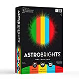 Neenah Astrobrights Premium Color Paper Assortment, 24 lb, 8.5 x 11 Inches, 500 Sheets, Eco Colors inkjet printers Apr, 2021