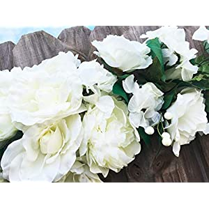 35″ Inches Long Arch Swag Roses Peony Silk Wedding Artificial Flowers