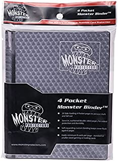Monster Binder - 4 Pocket Trading Card Album - Holofoil Black- Holds 160 Cards