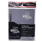 Monster Binder - 4 Pocket Trading Card Album - Holofoil Black- Holds 160 Yugioh, Magic, and Pokemon Cards