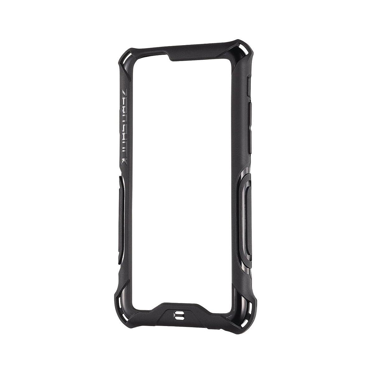 海藻生きるコートELECOM iPhone6S iPhone6 ZEROSHOCK ハイブリッドバンパー ブラック PM-A14ZEROBBK